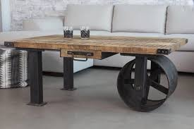 coffee table view in gallery industrial coffee table with wheel from barak industrial coffee tables