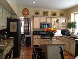 Kitchens With Slate Appliances Ge Slate Appliances Ivory Glazed Cabinets Island Seating New