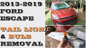 Change Brake Light 2014 Ford Escape How To Change Replace Tail Light Bulbs Ford Escape 2013 2019