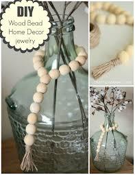 diy wood bead home decor jewelry collage