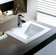 bathroom sink. Square Porcelain Topmount Sink Bathroom