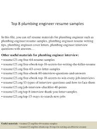 writing an engineering resumes top 8 plumbing engineer resume samples