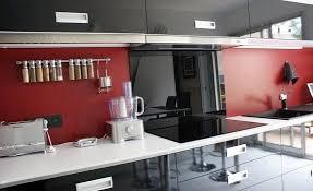 Cuisine Mur Rouge Et Gris Gallery Of Cuisine Mur Rouge Et Gris