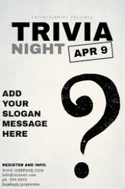trivia night flyer templates customizable design templates for trivia night postermywall