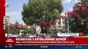 SON DAKİKA: Kütahya'da deprem sonrası ilk görüntüler... Kütahya  Altınışık'ta 5 büyüklüğünde deprem videosunu izle | Son Dakika Hab