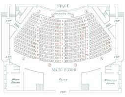 Stage 773 Seating Chart Main Stage Seating Map Athenaeum Theatre