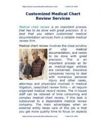 Customized Medical Chart Review Services Medical Record