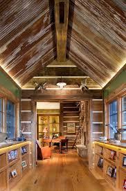 denver tin ceiling lights rustic hall