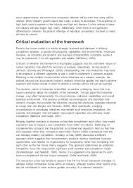 critical essay on porters forces model if competing organizations 3 are