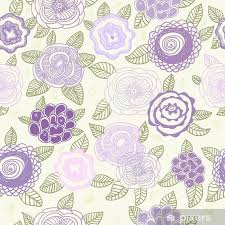 Pastel Colored Floral Pattern For Cute Background Laptop Sticker