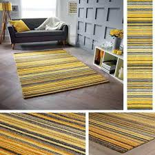 mustard yellow rug carter ochre mustard yellow rug runner all sizes wool stripe pattern shuff charcoal