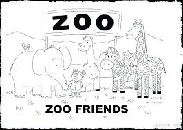 Zoo Coloring Pages Zoo Coloring Page Pages Animals Animal Free