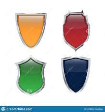 Shiny Shield Icon Set Vector Illustration Logo Templates