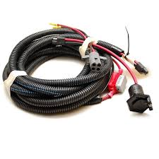 boat motor wiring harnesses plugs breakers great lakes skipper tracker 13 ft boat trolling motor harness w 50a shortstop breaker and 2 pin plugs