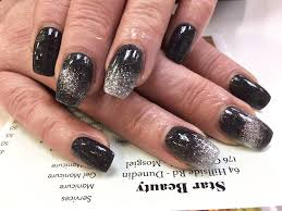 sns nails ombre black and silver hairstyles makeup ombre nail art