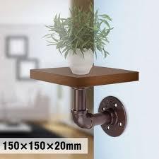 modern floating wooden wall mount
