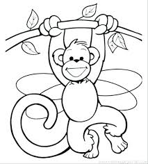Coloring Pages Monkey Fashionadvisorinfo