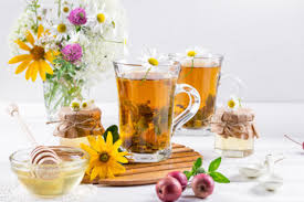 Search Autumn Herb Wild Organic Photos Flowers Medicine Vitamin Flower Honey Healthy Yellow Chamomile Drink Hot Plant Cup Wooden