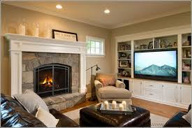 Brilliant Living Room Ideas With Fireplace And Tv On Opposite To Impressive