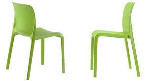 the delightful brightly coloured emo dining chairs are made from polypropylene which is very hard wearing they ve got a simple modern look and have been
