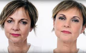 free makeup for women over 50 before and after