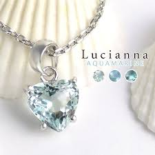 heart shaped cut aquamarine necklaces silver natural stone stone las necklace march birth stone pendants las necklace pendant girls necklace