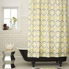 modern grey shower curtain. View In Gallery Modern Printed Shower Curtain Grey E