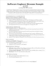 Free Software Engineering Resume Format Templates At