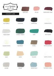 Forest Green Color Chart Mud Paint Color Chart