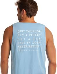 azul blue quit your job tank top graphic tank for men island company quit your job buy a ticket get a tan fall in love never return