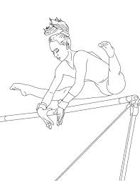 Small Picture Perfect Score of High Bar in Gymnastic Coloring Page Download