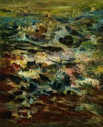 beyond the odalisque ibraaz abdallah benanteur la montée 1992 oil on canvas 100 x 81 cm