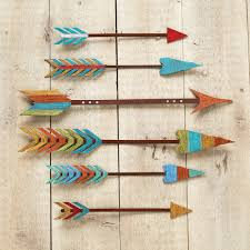 colorful arrow metal wall art