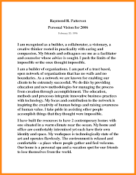 my vision statement sample 9 sample personal vision statement parts of resume