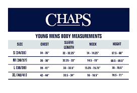 Chaps Dress Size Chart Chaps Young Mens Uniform Long Sleeve Oxford Shirt At Amazon