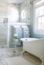 timeless chic marble tiled walk in shower