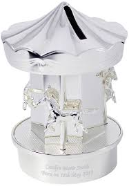 carousel money box end back to personalised christening gifts
