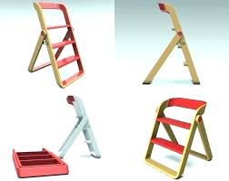 foldable wood step stool