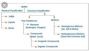 Flow Chart On The Characteristics Of Matter Brainly In