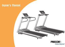 precor treadmill 9 27 user guide manualsonline com 9 23