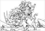 Fantasie Mythologie Kleurplaten Gratis Printbare Kleurplaten