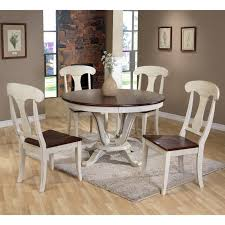 baxton studio napoleon chic country cottage piece round dining table and chairs set kitchen placemats oval