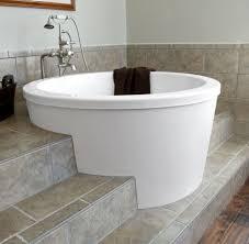 deep soaking bathtub. Bathtub Design Serene Tile Marble Ing Round Deep Soaking Tubs Ideas Stainless Sinkand Wooden O
