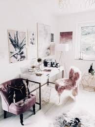 pink office decor. Glam Office | Chic Pink, Mauve, Gold And White Pink Decor +