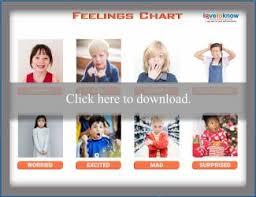 Preschool Feelings Chart Printable Feelings Chart For Children Lovetoknow
