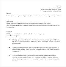 Lead Developer Sample Resume Podarki Co