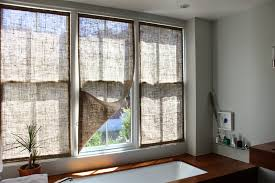Decorations Burlap Window Treatments  Burlap Valance  Burlap Burlap Window Blinds