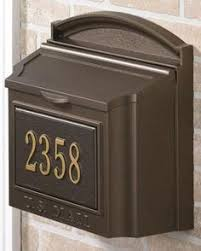 Residential Mailboxes Wall Mount Ecco Black Wall mount mailbox