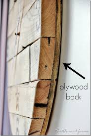 how to make a pallet wood clock plywood