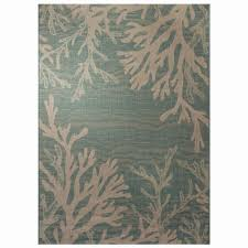 grey indoor outdoor rug new hampton bay reef aqua 5 ft 3 in x 7 ft